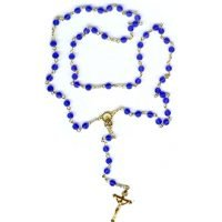 Blue beaded Infant Jesus of Prague Rosary